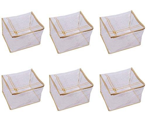 Kuber Industries 6 Piece PVC Saree Cover Set, Transparent (VAR00569_3)