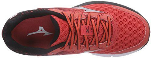 Mizuno Rojo Rider running Black Cayenne Rot Wave de Zapatillas 18 05 Mujer Silver rX0qrBw5x