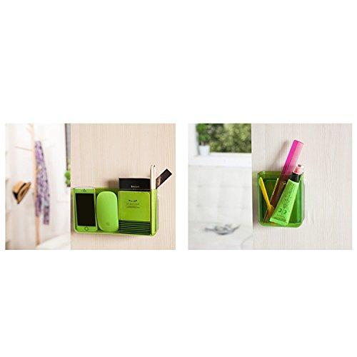 apsoonsell Universal de pared para TV/Aire Acondicionado Mando a distancia Medios organizador caja de almacenamiento, plástico, Rojo, Medium Verde