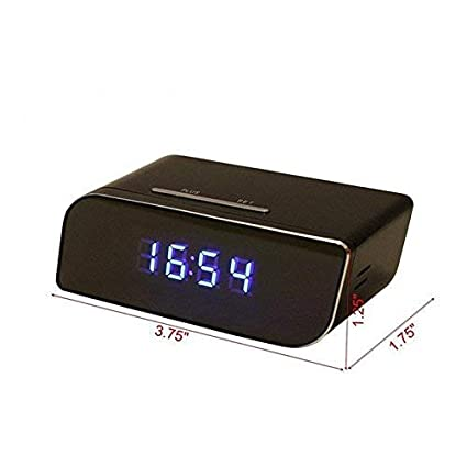 Amazon.com : Wireless Camera WIFI IP Alarm Clock IR Room ...