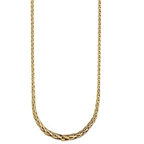 Chaîne à maillons 2-4,3mm avec dégradé Collier Chaîne en or jaune 585or chaîne 45cm