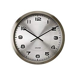 Present Time Karlsson Wall Clock Maxie, Steel Polished Aluminum