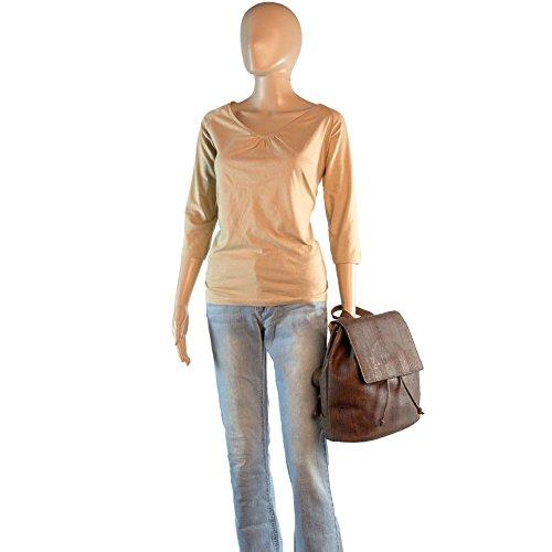 Corkor Cork Backpack - Vegan Handbag For Women Top Flap Back Pack Travel School Brown Color by Corkor (Image #7)