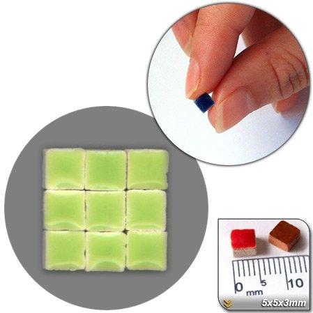 Mosaic-Minis (1/8 wide - 5x5x3mm), 250 pieces, Pistachio green, WG04