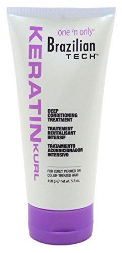Enhancing Shampoo C-curl (One N Only Brazilian Tech Condition Deep Treatment 5.3 Ounce (156ml))