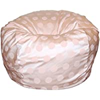 Ahh! Products Delightful Dots Light Pink Washable Large Bean Bag Chair