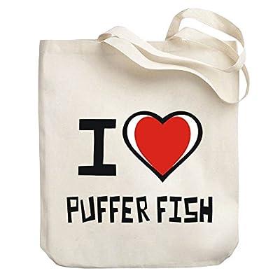 b8027600b44b Teeburon I love Puffer Fish Canvas Tote Bag low-cost - netwdz11.xsrv.jp