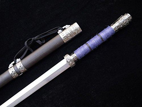Chinese sword,Handmade jian(High Manganese steel blade,Black scabbard,Alloy fitted)Length (Viking Costumes Dagger Belt)