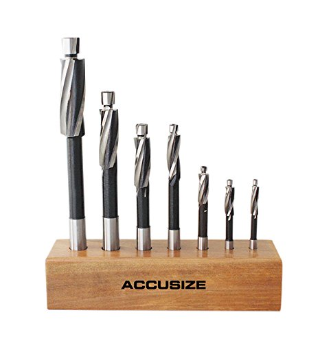 AccusizeTools - H.S.S. Solid Cap Screw Counterbore Set, 3 Flute, Straight Shank, 7 Pcs/Set, 508S-0007 by Accusize Industrial Tools