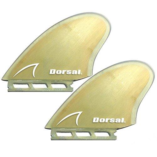 Dorsal FUT Fin Compatible Keel Twin Surfboard Fin Set - Bamboo by Dorsal