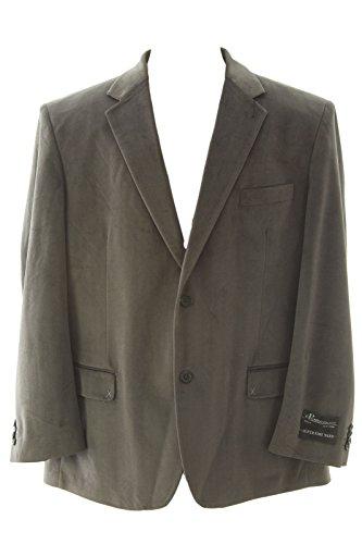 carlo-palazzi-mens-chevron-pattern-two-button-blazer-sportscoat-42-regular-gray