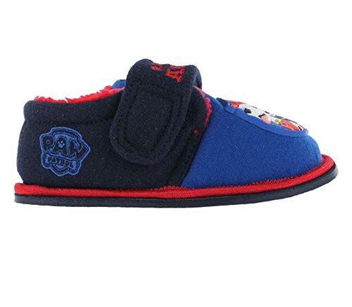 Paw Patrol Lupton Flashing Print Blue & Red Slippers Size 8