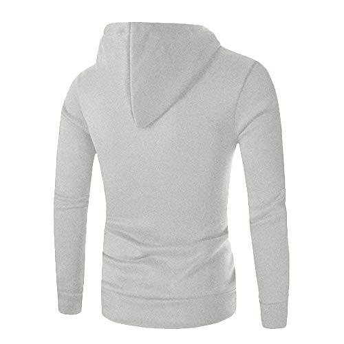Morchan Solide Veste Hommes À Outwear Gris Swearshirt Sweatshirt Capuche Chandail Poche Manteau De awqadIrX