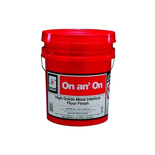 Wax Flooring - Spartan On an' On Floor Finish/Wax/Sealer, 5 gal pail