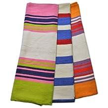 Colorful Cotton Yoga Blanket - Heavy