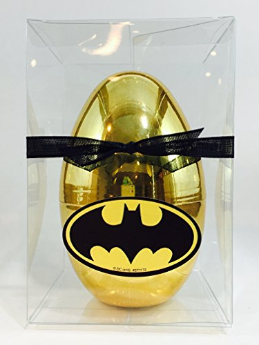 "NEW Batman Inspired GOLD Surprise Egg With Batman Stickers, Batman vs Superman Blind Bag, Batman Candy, Batman items, Large 5.5"" (Exclusively by Abundant Gifts)"