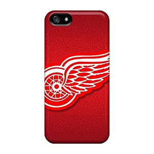 First-class Cases Covers For Iphone 5/5s Dual Protection Covers Detroit Red Wings
