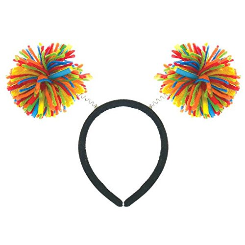 Amscan Pom Pom Headbopper, Party Accessory, Rainbow -