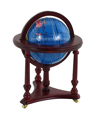 Miniature Walnut Spinning Globe sold at Miniatures