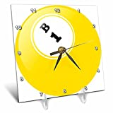 3dRose dc_50293_1 Bingo B 1 Desk Clock, 6 by 6-Inch