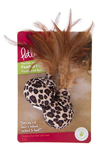Petlinks Cat Toys with Feathers Feather Ball Cat Toy