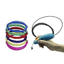 3D Pen Filament for 3doodler start 3D pen, replacement filament for 3doodler Start Refill Plastic Pack (4 Color Pack)