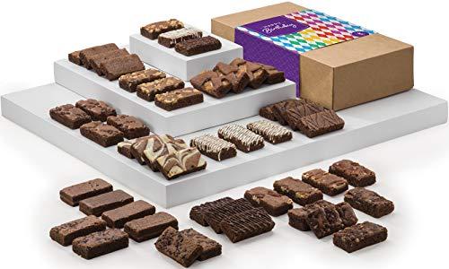 Fairytale Brownies Birthday Sprite 48 Gourmet Chocolate Food Gift Basket - 3 Inch x 1.5 Inch Snack-Size Brownies - 48 Pieces - Item LB248 by Fairytale Brownies (Image #3)