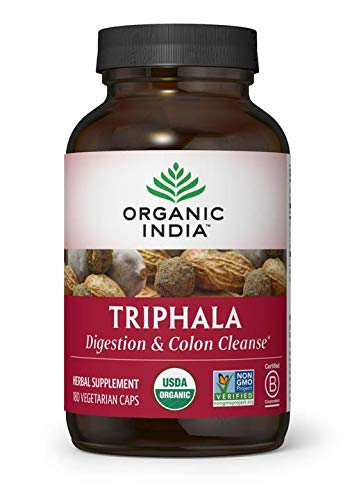 ORGANIC INDIA Triphala Supplement 180 Count Veg Capsules