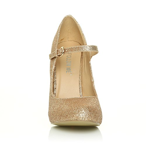 Glitter Donna Basse Mischa Gold Collection Mary Jane Core 0FzqX