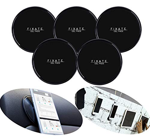 Fixate Sticky Gel Pads Multi Function Non-Slip Magic Gel Pad Universal Flourish Lama Nano Cell Phones Holder Gel Pads Stick to Car Home Office or as Mobile Phone(5PCS)