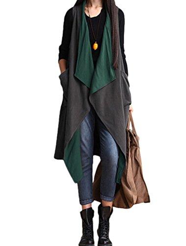 MatchLife - Camiseta sin mangas - para mujer Grey Green