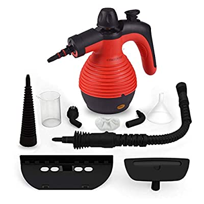 Comforday Steamer- Steamer Multi Purpose Carpet High Pressure Chemical Free Steamer with 9-Piece Accessories, Perfect for Stain Removal, Curtains, Car Seats,Floor,Window Cleaning