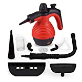 Comforday Steam Multi Purpose Handheld Cleaners High Pressure Steamer with 9-Piece Accessories, Perfect for Stain Removal, Carpet,Curtains, Car Seats,Floor,Window Cleaning, Red