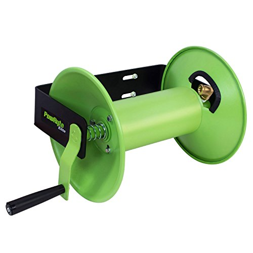 PowRyte Elite Hand Crank Air Hose Reel 3/8-inch by 100-feet