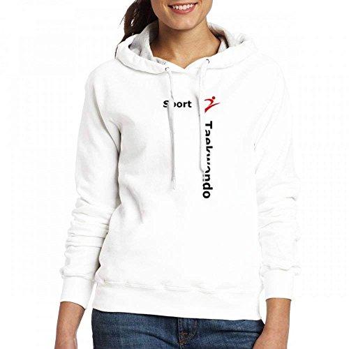 Le Sport Taekwondo Personnalisable De Femmes Personnalisés Hoodies Blanc