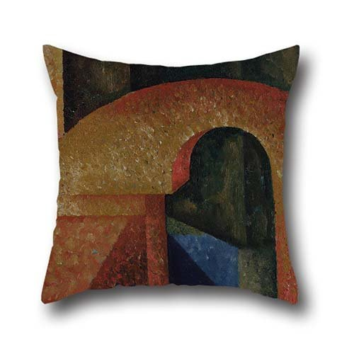 [Oil Painting Amadeo De Souza Cardoso - Untitled (Ponte) Pillow Cases ,best For Dining Room,lounge,saloon,boy Friend,divan,gf 16 X 16 Inches / 40 By 40 Cm(each] (80s Rock God Costumes)
