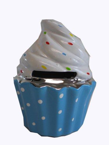Coin Bank Cupcake Cup Cake Piggy Bank (Blue)]()