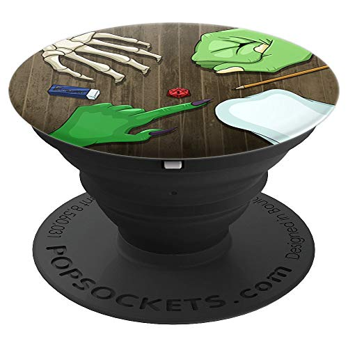 Halloween Party - DnD Dragons Roleplay Adventure - PopSockets Grip and Stand for Phones and Tablets ()