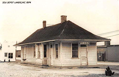 Landis North Carolina SOU Railroad Depot Real Photo Vintage Postcard K105822