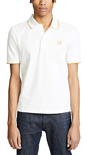 Fred Perry Men's Fine Tipped Pique Shirt, Snow White, X-Large