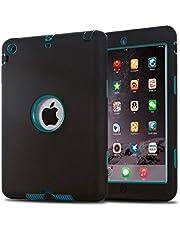iPad Mini Case, iPad Mini 2 Case, iPad Mini 3 Case,MAKEIT 3in1 Hybrid Shockproof Case for iPad Mini 1/2/3 (Black/Dark Green)