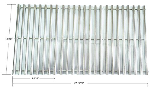 (GS8763 Stainless Steel Cooking Grid Replacement for Charbroil 463433016, 463461615, 463420507, 463420508, Kenmore 463420507, Master Chef 85-3100-2, 85-3101-0, G43205, T480, Set of 3)