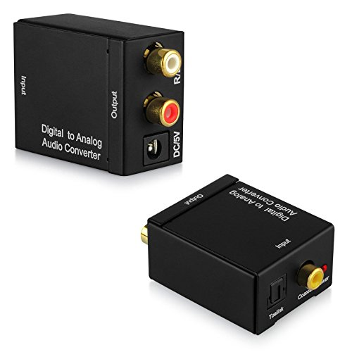 Straightwire Video Link (Phantomx Latest Coaxial Optical Cable Toslink RCA Digital to Analog Audio Converter)