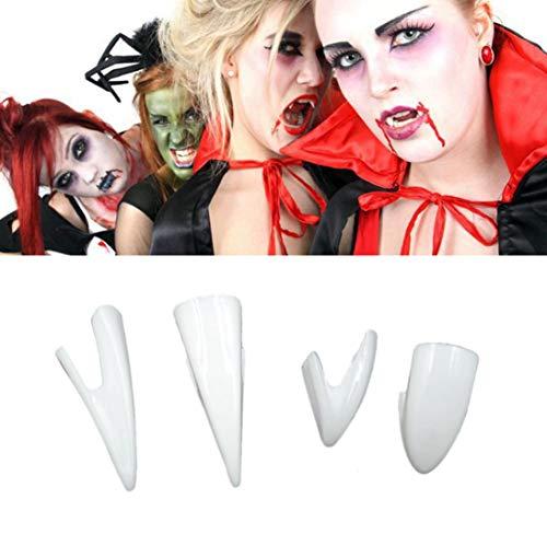 Gbell 2Pcs/4Pcs Halloween Vampire Teeth - Look Real Fangs Dentures Props for Teen Boys Girls Adults - Halloween Vampire Costume Props Party Favors