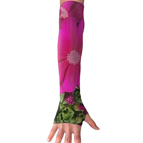 Red Flower Color Ultra Long Non Finger UV Resistant Gloves Gloves Sleeve, For Women And Men To Provide Sunscreen Protection 1 Pairs, For Outdoor Sports, Driving, Bicycles by WEIFG