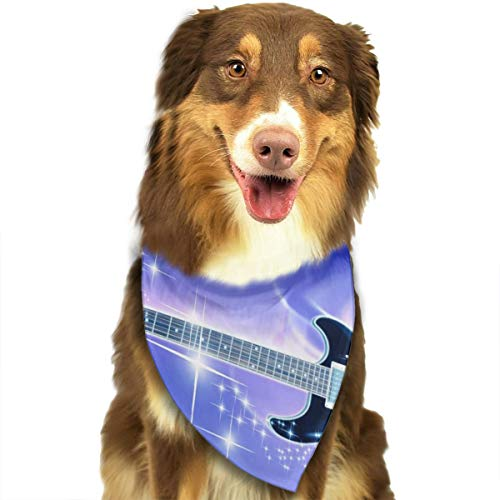 Pet Scarf Dog Bandana Bibs Triangle Head Scarfs Guitar Art Accessories for Cats Baby Puppy -