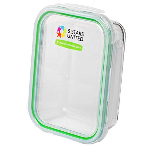 Glass Food Storage Containers with Lids - 1 Pack, 1 Sizes (12 Oz) - Meal Prep Lunch Boxes - Microwave, Fridge, Freezer, Dishwasher, Oven Safe - BPA-free - Easy Snap, Airtight and LeakProof Lids