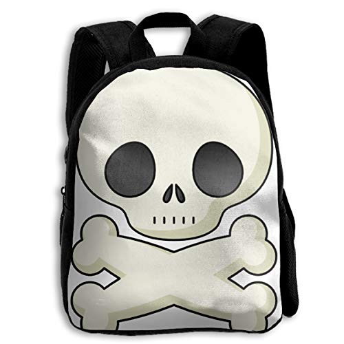 Liumong Halloween Skeleton Clipart Cute Children Multi-Function Mini Casual Outdoor Travel Book Middle School Backpack 13 Laptop Computer Bag Pocket Zipper