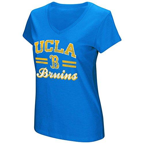 Women's UCLA Bruins Junior Sized Sport Royal Hurdle V Neck T Shirt