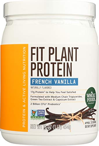 Whole Foods Market, Fit Plant Protein, French Vanilla, 16 oz